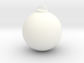 Christmas Ball Hollow - Custom in White Strong & Flexible Polished