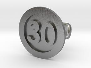 Cufflink 30 (price per piece) in Natural Silver