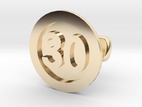 Cufflink 30 (price per piece) in 14k Gold Plated Brass