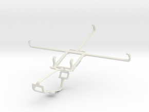 Controller mount for Xbox One & Lenovo IdeaTab A10 in White Natural Versatile Plastic