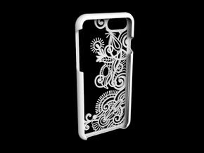 Floral Pattern Iphone 7 case in White Natural Versatile Plastic