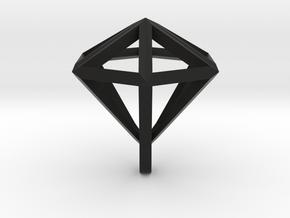 Diamant pendant in Black Natural Versatile Plastic