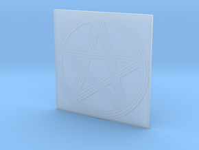 Grooved Pentacle Tile by ~M. in Smooth Fine Detail Plastic