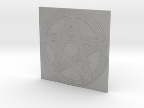 Grooved Pentacle Tile by ~M. in Aluminum