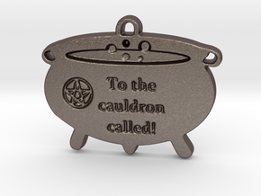 Cauldron Called by ~M. in Polished Bronzed Silver Steel