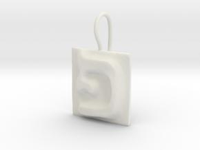 17 Pe Earring in White Natural Versatile Plastic