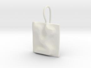 18 Tzadi Earring in White Natural Versatile Plastic