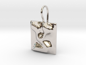 18 Tzadi Earring in Rhodium Plated Brass
