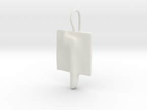 25 Nun-sofit Earring in White Natural Versatile Plastic