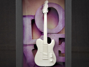 Fender Telecaster, Scale 1:6  in White Strong & Flexible Polished