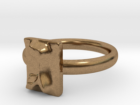 03 Gimel Ring in Natural Brass: 5 / 49