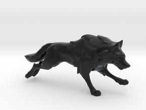 Wolf Running in Black Hi-Def Acrylate