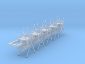 10 1:72 Metal Folding Chair in Smooth Fine Detail Plastic