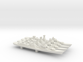 Kotlin-class destroyer (w/ SA-N-1B) x 4, 1/2400 in White Natural Versatile Plastic