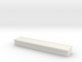 N Scale Platform #1 Centre in White Natural Versatile Plastic