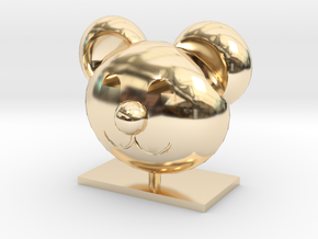 Teddy Bear Head in 14K Yellow Gold