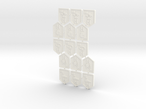KDM Tokens High-Low (15 pcs) in White Strong & Flexible Polished