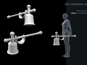 ACC-01s-Hammer  6inch in White Strong & Flexible Polished