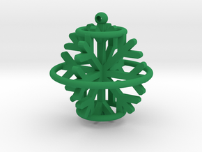 Snowflake Ball pendant in Green Processed Versatile Plastic