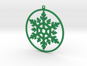 Snowflake Cercle in Green Strong & Flexible Polished