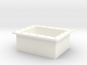 Seaking 25 X 20 Step Box in White Strong & Flexible Polished