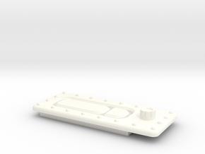 Seaking Door Handle 2 in White Processed Versatile Plastic