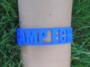 Camp Echo Cuff in Blue Processed Versatile Plastic