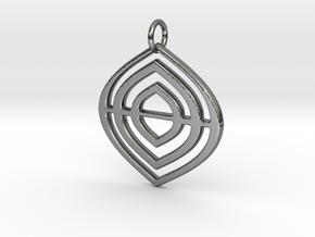 Leafs Deco pendant in Premium Silver