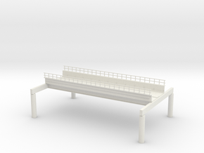 NEW WEST PHILA EL N SCALE in White Natural Versatile Plastic