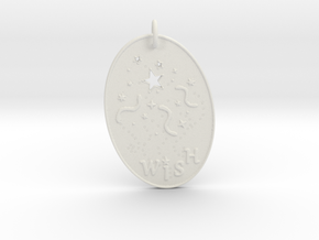 Shooting Stars Wish 1 Pendant by Gabrielle in White Natural Versatile Plastic