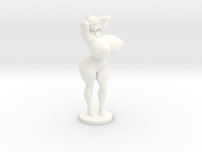 Moo the Minotaur Topless- 40mm  in White Strong & Flexible Polished