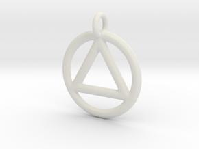 AA Pendant in White Natural Versatile Plastic