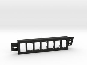97-01 Jeep Cherokee XJ 6 switch bezel Pass Contura in Black Natural Versatile Plastic