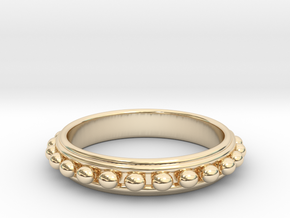 Granulated Ball Ring Size 8 in 14K Gold