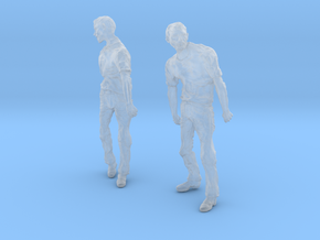 1-24 Male Zombie Set1 in Smooth Fine Detail Plastic