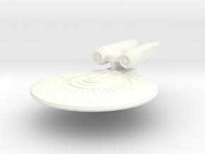 USS-Malta in White Strong & Flexible Polished