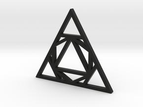 Sacred Tribe Triangle Pendant in Black Natural Versatile Plastic