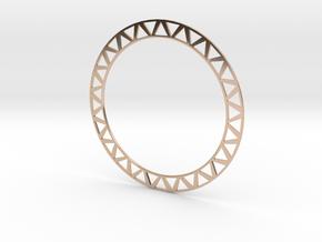 Stackable Bangle Bracelet in 14k Rose Gold Plated Brass