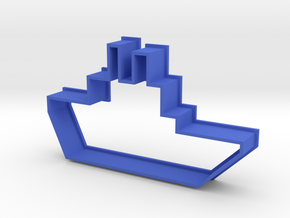 Cookie Cutter Boat in Blue Processed Versatile Plastic