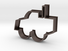 Cookie Cutter Bulldozer in Polished Bronzed Silver Steel