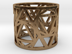 Zero Point Geometry Ring in Natural Brass: 6 / 51.5