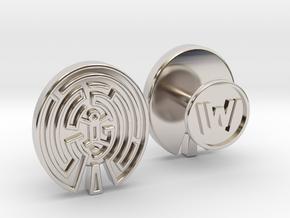 WestWorld Maze Cufflinks in Platinum