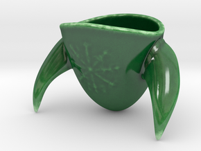 Viking Helmet Espresso Cup in Gloss Oribe Green Porcelain