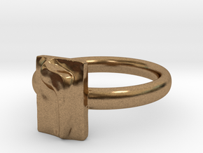 06 Vav Ring in Natural Brass: 7 / 54