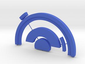 Pokestop Tree Topper Circle Top in Blue Processed Versatile Plastic
