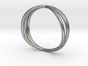 Nouv II (Medium) in Natural Silver