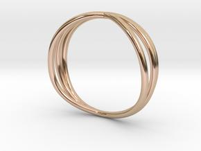 Nouv II (Medium) in 14k Rose Gold Plated Brass