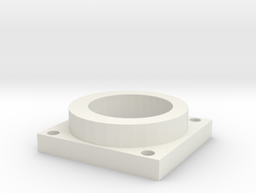 Dowel Holder Closed  Bracket in White Natural Versatile Plastic
