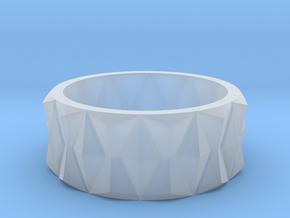Diamond Ring V3 in Smooth Fine Detail Plastic