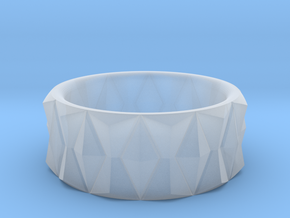 Diamond Ring V3 - Curved in Smooth Fine Detail Plastic